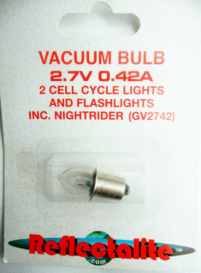 Reflectalite GV2742 Vacuum Push In Bulb  2.7V 0.42A  for Bike Lights & Torches